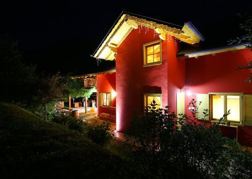 La casa di notte...